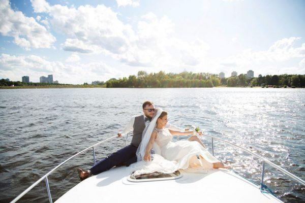 Свадьба на яхте в Москве